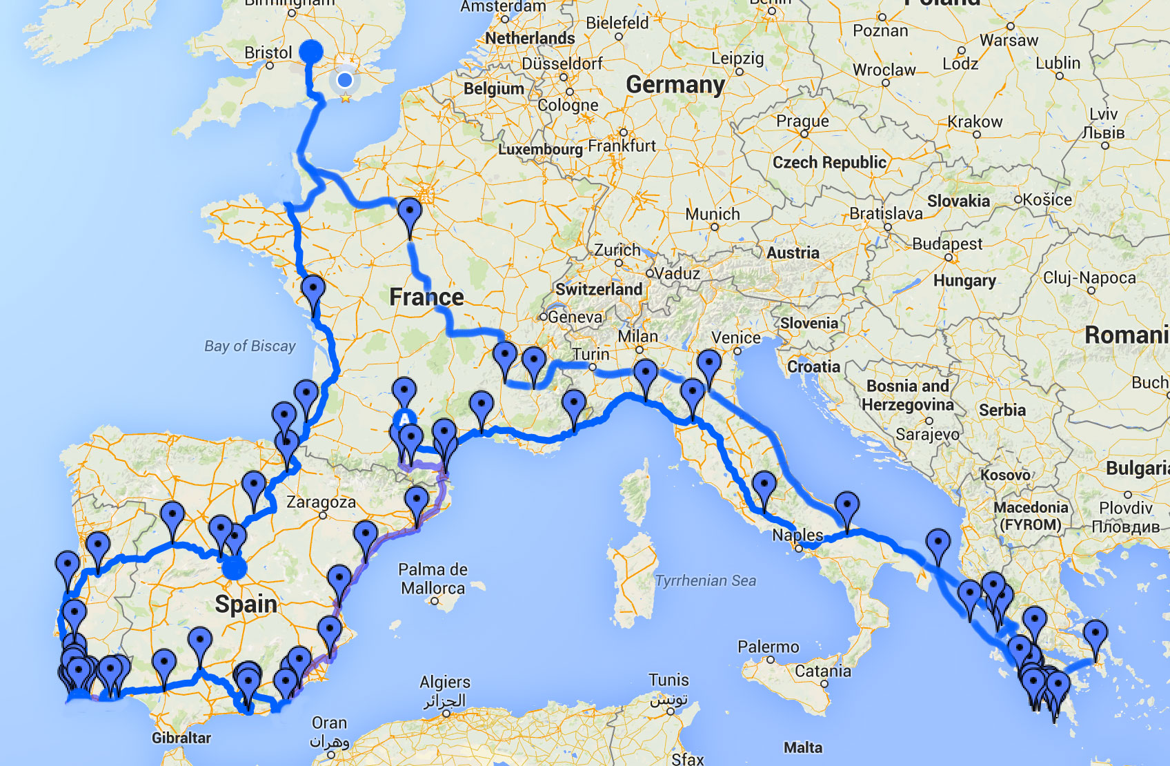 Months Travelling Europe