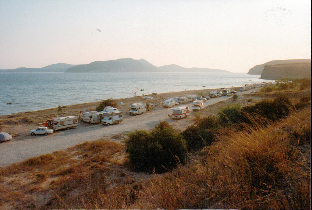 Free camping on Finiki beach, Greece