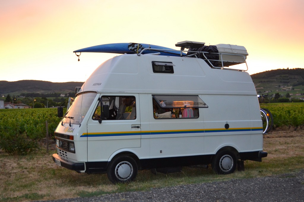 French campervan travelogue 2015