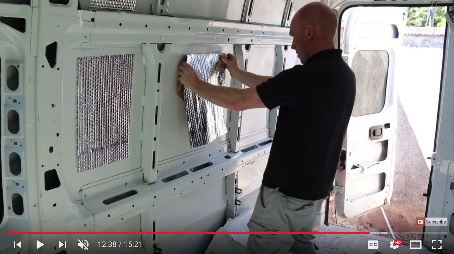 Restoration Couple camper sound deadening