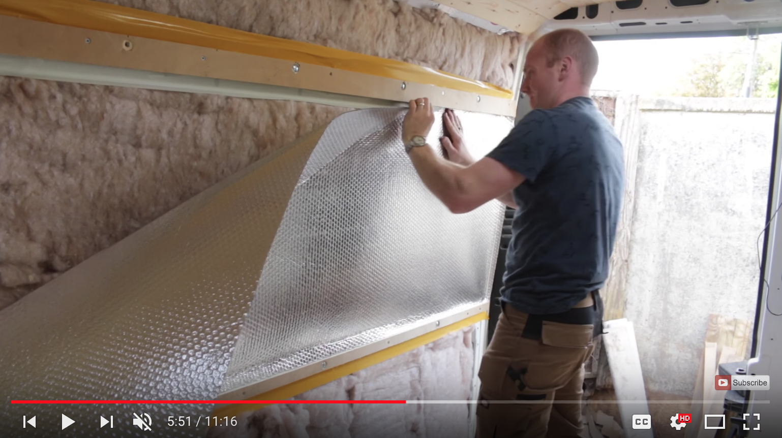 Restoration Couple camper insulation